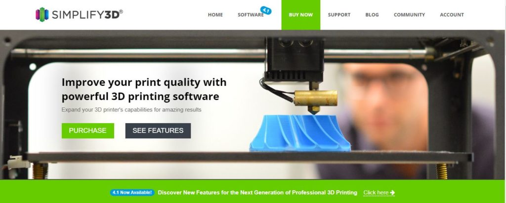 3D Printer slicers simplify3d software